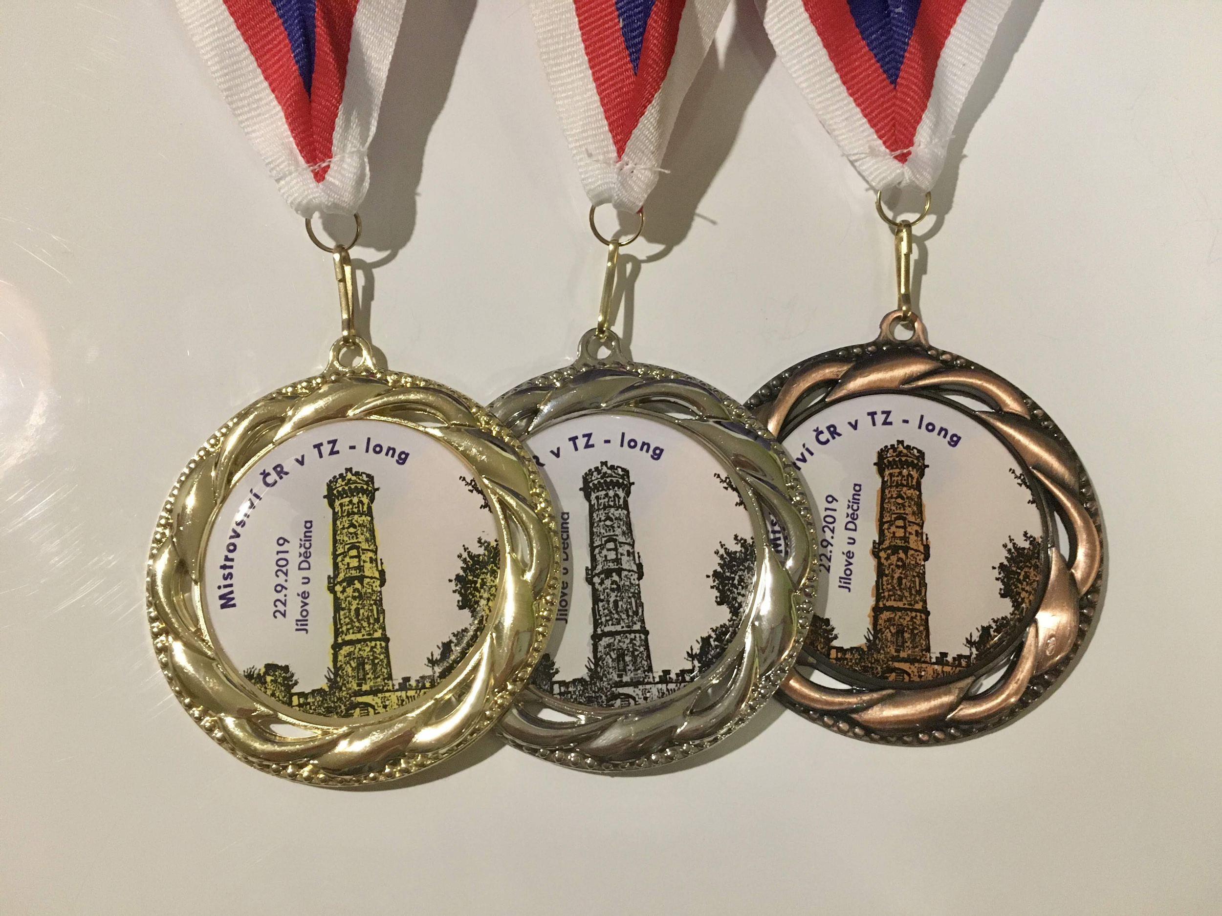 Medals for czech Championship in outdoor running